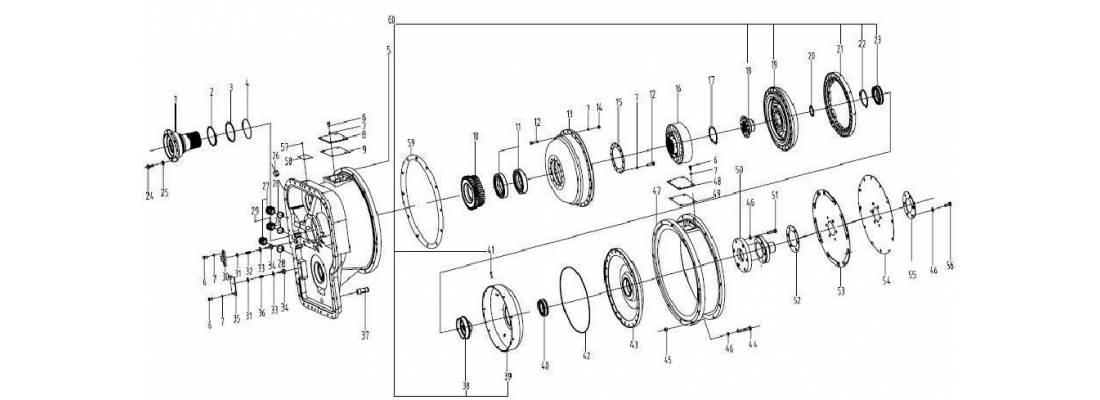 Гидротрансформатор yjsw315-2b SDLG LG936L